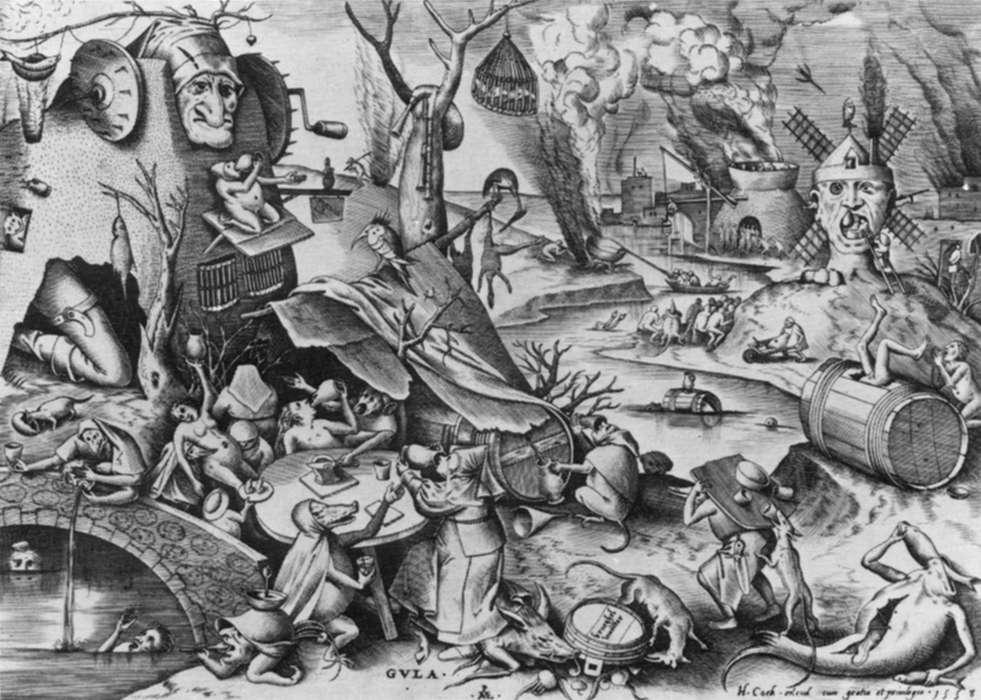 Pieter Brueghel - Falánkság (1557)